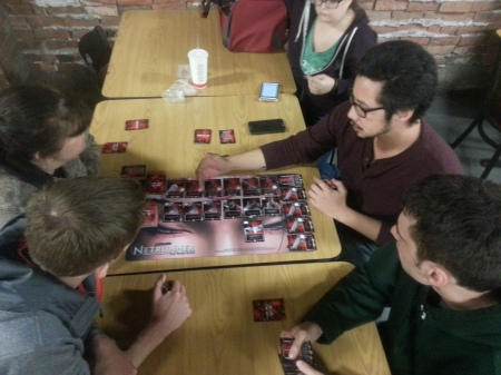 Sergio teaching our game to a group of players at The Jester's Court.
