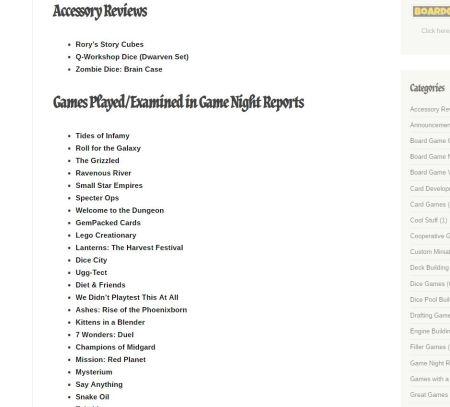 Game Night Report Screenshot
