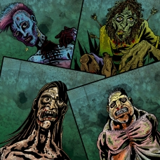 Search and Survive Zombie Collage
